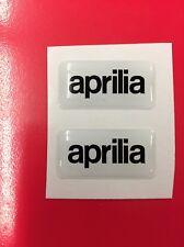 2 Adesivi Resinati Sticker 3D APRILIAWhite & Black