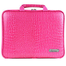 "Toshiba mini 8.9"" Laptop Case Sleeve Bag Memory Foam Crocodile RPK Pink A6 i"