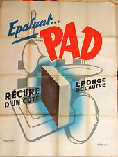 Epatant Pad Recure Eponge 1950s original French poster. NOT a repro!