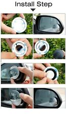 2PCS Car Rear View Mirror Adjustable Rotating Wide Angle Blind Spot Round Mirror