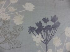Cow Parsley Villa Nova Chervil Linen Curtain Fabric Remnant 60 cm Off Cut Blue