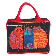 Laurel Burch Cats Feline Friends Travel Cosmetic Tote Bag NEW 2017