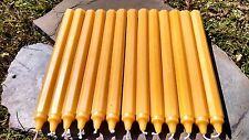 "12 - Handmade 100% Beeswax 10"" Octagon Taper Candles All-Natural Cotton Wicks"
