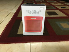 NEW BOSE SOUNDLINK COLOR II BLUETOOTH SPEAKER - CORAL RED WIRELESS PORTABLE 2