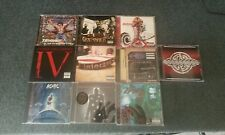 10 heavy metal/punk cds (lot-godsmack-rob zombie-ac/dc-gravity kills