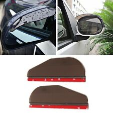 2x Smoke Car Rear View Side Mirror Rain Sun Snow Shielding Cover Visor 3M