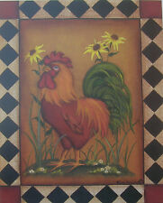 Green Tail Country Rooster Picture Sunflowers 8 x 10 Unframed Prints Pictures