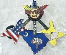 Hard Rock Cafe MYRTLE BEACH 2009 State Flag 3 GUITARS PIN USA SC & HRC #47216