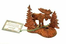 Moose and Trees incense burner metal 3D Paine's brass incense stick holder