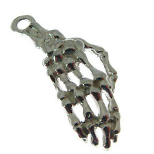 STERLING SILVER SKELETON HAND CHARM.  925 SILVER SKELETONS HAND CHARM