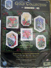 NEW Dimensions Gold Collection Christmas Keepsake Ornaments UNOPENED KIT  #8660