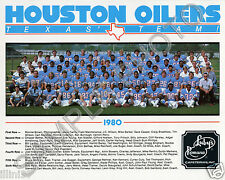 1980 HOUSTON OILERS NFL FOOTBALL 8X10 TEAM PHOTO