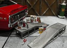 Auffahrrampe Rampe 1/18 Diorama  Metall Bausatz Kit Werkstatt Garage Tankstelle