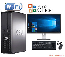"Dell Desktop PC Computer Windows 10 Core 2 Duo 8GB RAM 1TB HD 19"" Monitor"