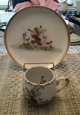 FRANCES GOODSON HAND PAINTED PLATE AND CUP