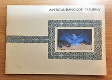 AMERICAN BANK NOTE COMPANY Extensive 13-Page Brochure with Vignettes