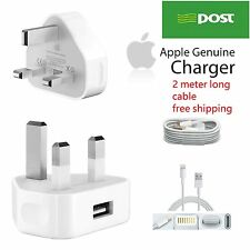 2 meter Apple USB CABLE Original UK Charger Lead FOR IPHONE 6 6S 6Plus+ 5 5C