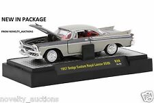 H60 32500 39  M2 MACHINES AUTO THENTICS 1957 DODGE CUSTOM ROYAL LANCER D500 1:64