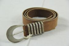 BNWT Diesel Light Brown Cow Leather Belt Made in Romania sz 36 100% Authentic