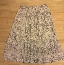 Lane Bryant Women's Maxi Long Skirt Size 1X Gray White Crinkly Pleated RV$98 NWT