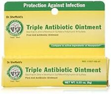 2*   Anti-Infection ANTIBIOTIC OINTMENT Triple Action , Dr. Sheffield's 0.33z