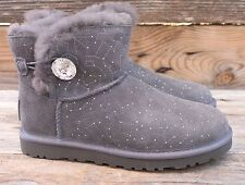 UGG Australia Mini Bailey Bling Constellation Grey Swarovski Boots US 6 UK 4.5