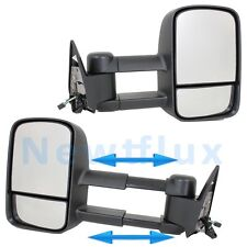 Pair POWER TOW MIRRORS(L+R)~Telescoping Extended Side View~88-98 Chevy GMC Truck