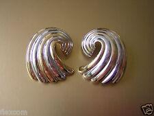 Pierre Lang Ohrclips Designer Schmuck Ohrschmuck Farbe:Gold & Silber 18,2 g