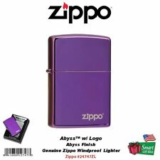 Zippo Abyss with Logo Lighter, High Polish, Deep Purple, Windproof #24747ZL