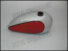 NEW TRIUMPH T120/TR6 BONNEVILLE CUSTOM RED PAINTED CHROME PETROL TANK (code875)