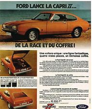 Publicité Advertising 1974 Ford Capri II