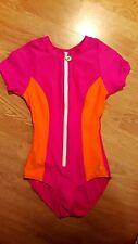 NEXT Womans Bathing Suit Surf One Piece Size X-SMALL Pink Orange Swim Suit