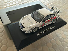 PORSCHE OFFICIAL DEALERSHIP 911 GT3 CUP PROMO RACECAR 1:43 SCALE MINICHAMPS 2007