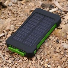 Green Waterproof 50000mah Solar Power Bank LED 2 USB Battery Charger For iPhone6