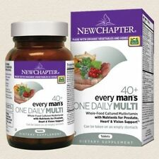 NEW CHAPTER EVERY MAN'S ONE DAILY MULTI VITAMIN 40+ 144 Tablets *NEW* $200 VALUE