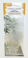 NEW YANKEE CANDLE SPARKLING SNOW SCENTED SNOWFLAKES CHRISTMAS TREE ORNAMENT