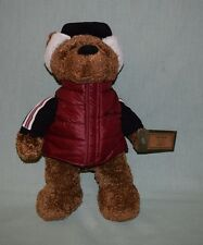 "Eddie Bauer Plush - Teddy Bauer Bear with Vest 12"" 2003 w Tags"