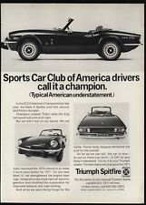 1971 TRIUMPH SPITFIRE Convertible Sports Car - SCCA Champion - VINTAGE AD