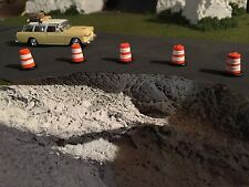 HO scale 1:87 custom built construction barrels - barricades (5) undecorated