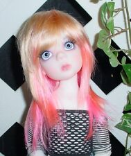 "Doll Wig, Monique Gold ""Jojo"" Size 5/6 Golden Blonde w Pink"