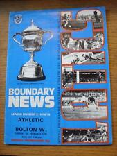 04/02/1975 Oldham Athletic v Bolton Wanderers  (Creased)