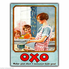 OXO Vintage Ancien Rétro publicité PLAQUE MURALE EN MÉTAL Cuisine
