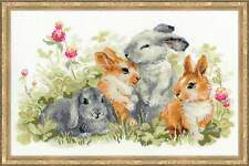 "Counted Cross Stitch Kit RIOLIS - ""Funny Rabbits"""