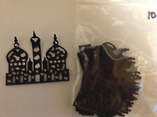 "Cardmaking  Die Cuts ""Temples"" Black Card Qty 10 - 6.4cms x 5.3cms"