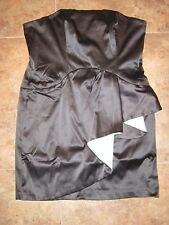 Moa Moa Party Cocktail Dress L Large *NEW* NWT Black Silver Strapless designer