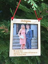 Personalised Wooden Polaroid Instagram Style Photo Frame Christmas Decoration
