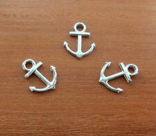 30 Silver Anchor Charms Sailing Ship Nautical Marine Ocean Charms Jewellery