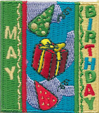 Scout MAY BIRTHDAY Fun Patches Crests Badges GIRL Boy Cub GUIDES Happy Month