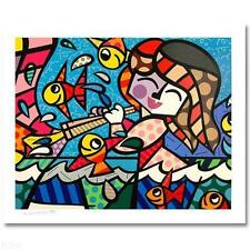 "Romero Britto      ""Neptune's Daughter""    MAKE  OFFER"