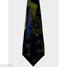 VINCENT VAN GOGH Cafe Terrace at Night Print Men Silk Tie Museum Art Collectible